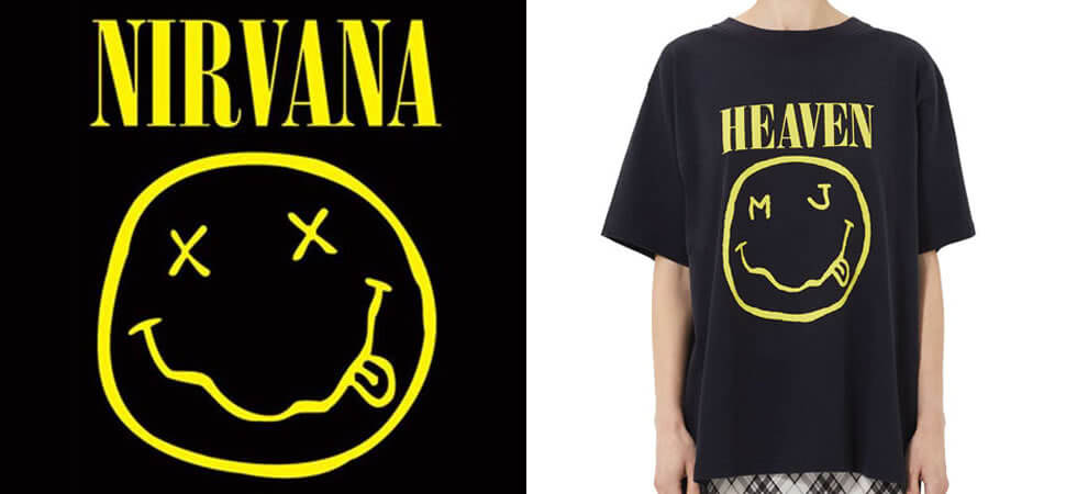 Nirvana Marc Jacobs Smiley Face