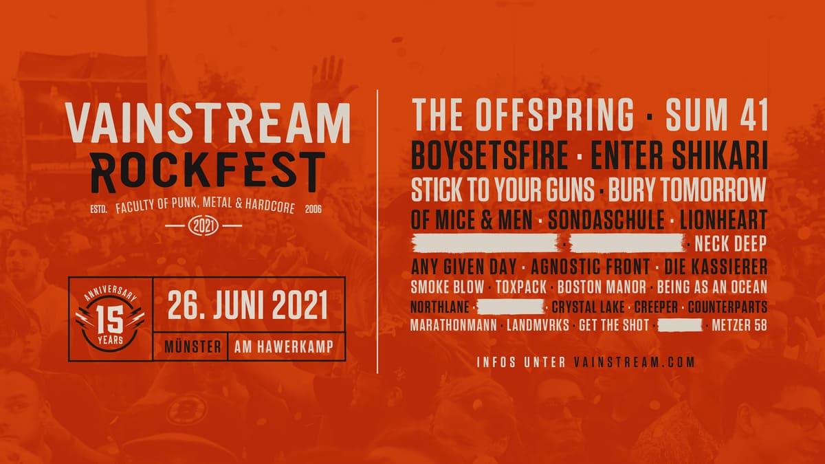 Vainstream Rockfest 2021 News