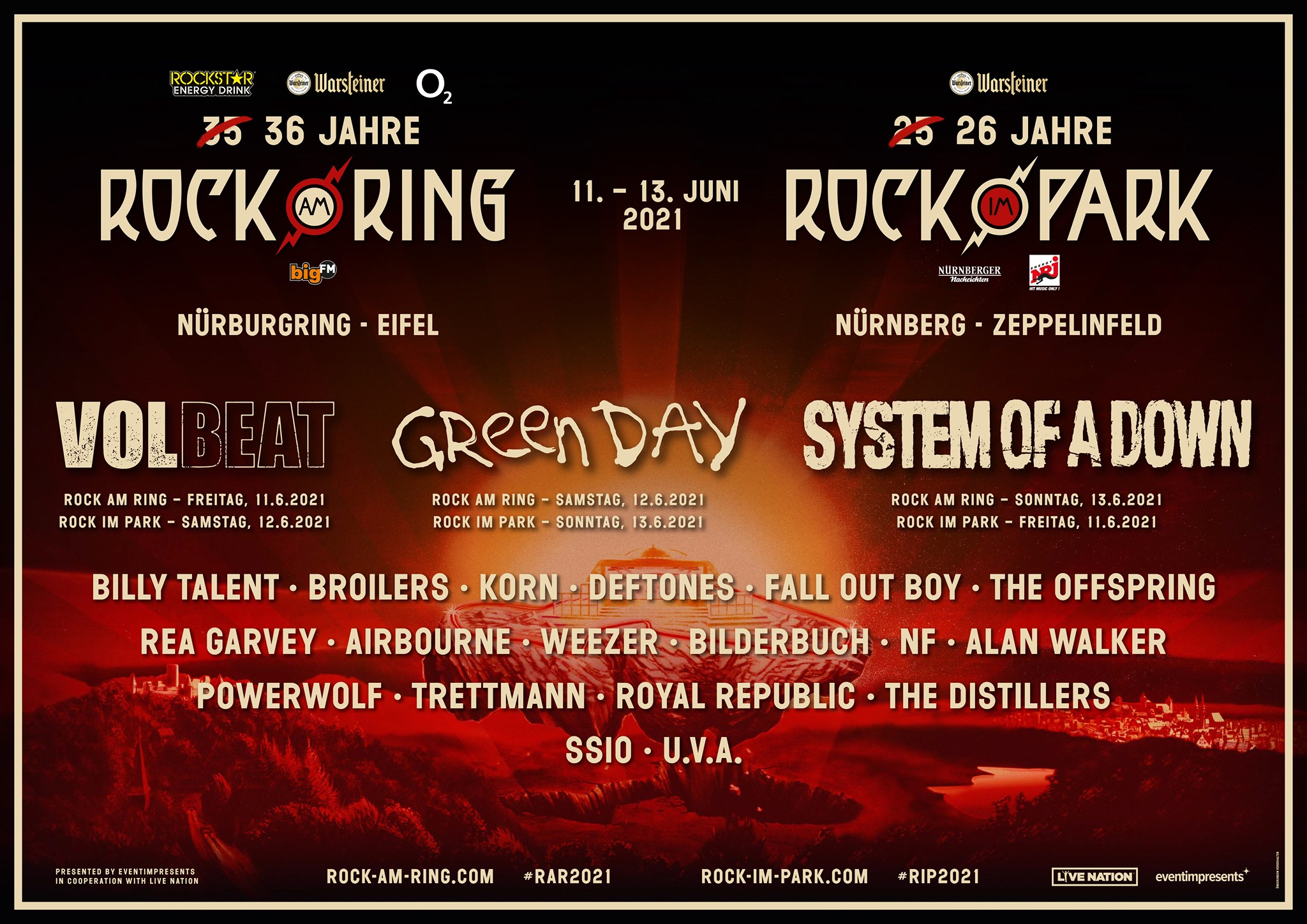 Rock am Ring Rock im Park News