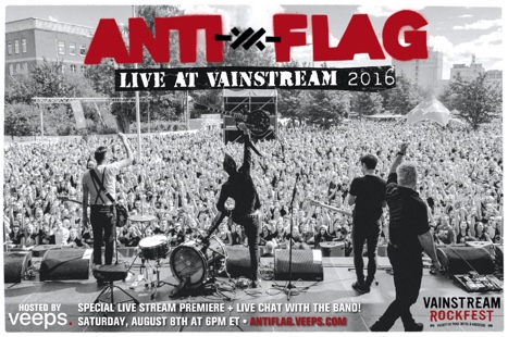 Anti Flag Live At Vainstream 2016 Poster News