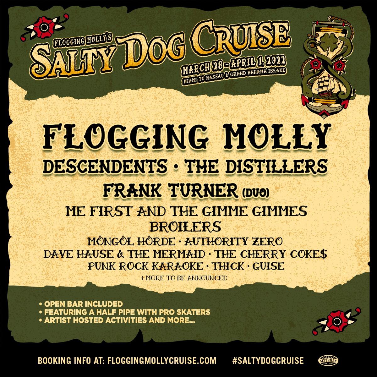 Flogging Molly Salty Dog Cruise 2022 News