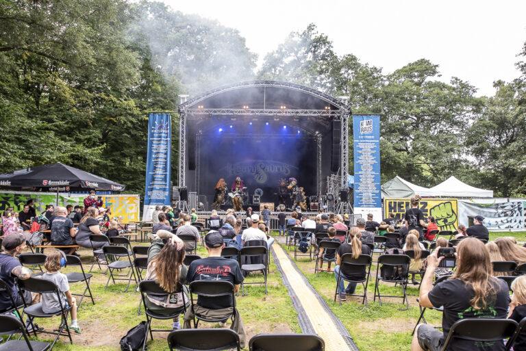 Heavysaurus am 21. August 2021 im Ricklinger Bad in Hannover